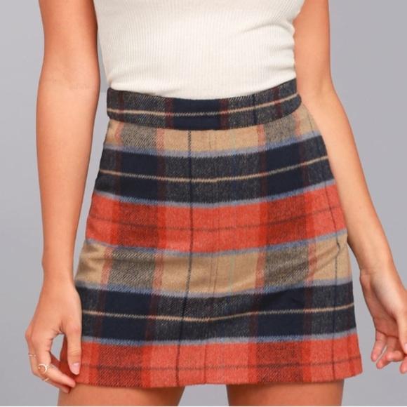 6e00aee01 Lulu's Skirts | Nwt Lulus Beige Plaid Mini Skirt | Poshmark